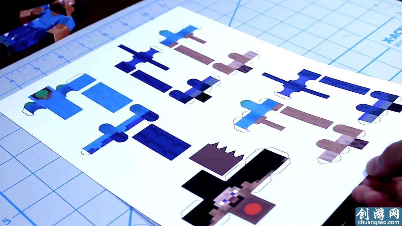 我的世界:国内狂人用纸制作史蒂夫,结构简单还能动,想拥有吗?